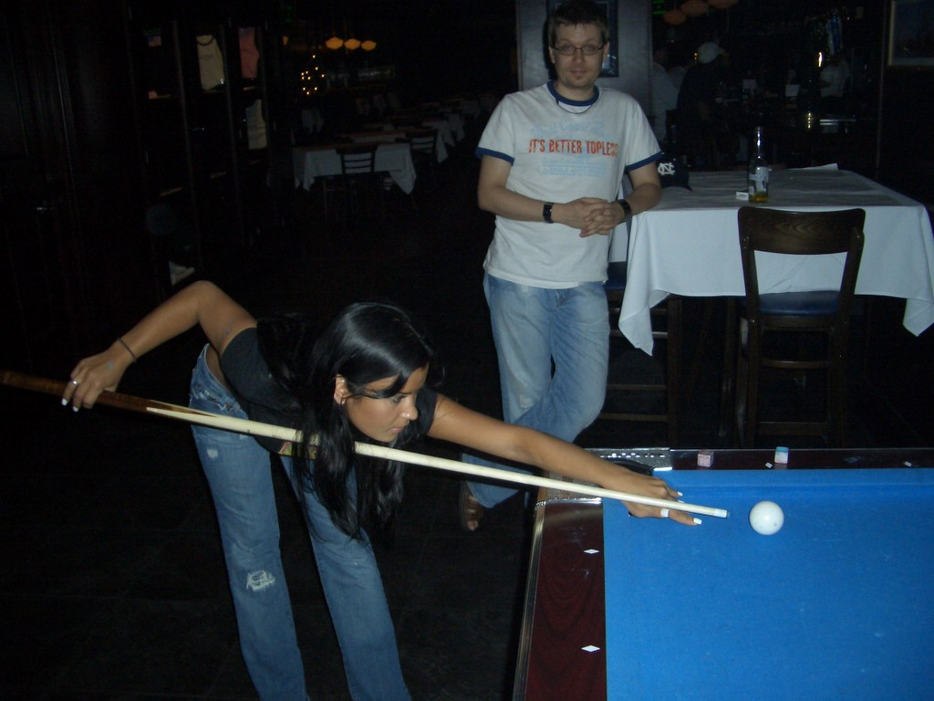 Very Girl nude pool table nice idea