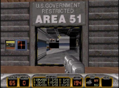 3d Realms Site Duke Nukem 3d Area 51 Walkthrough