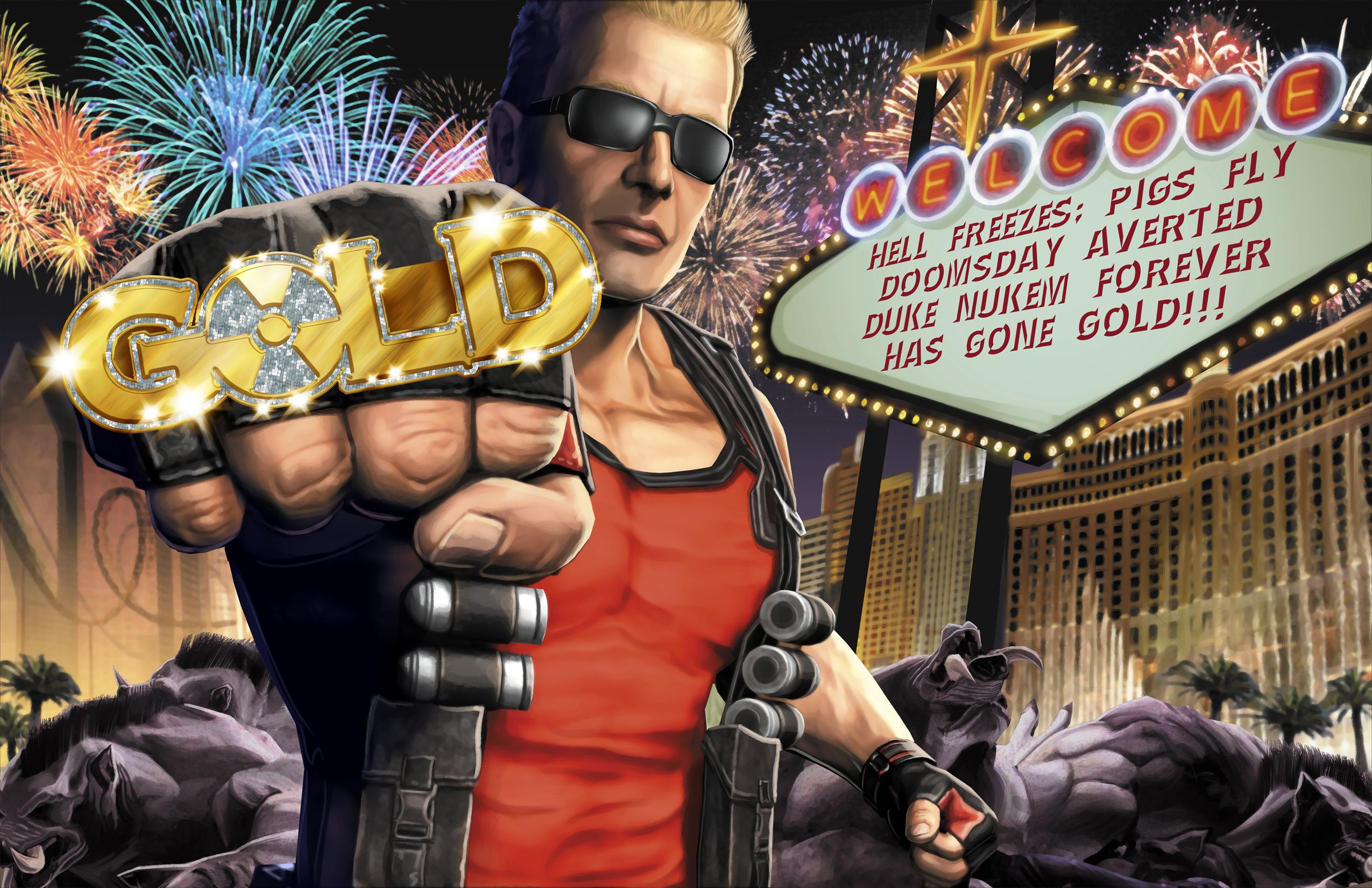 Duke Nukem Forever Has Gone Gold!