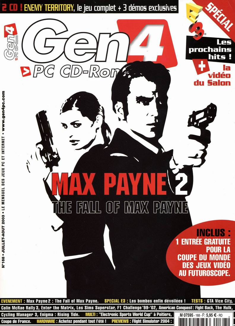 3d Realms News More Max Payne 2 Magazine Covers
